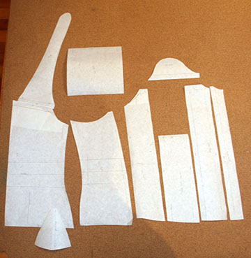 Reform corset pattern draft.