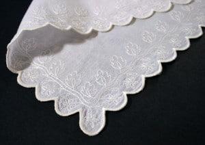 1826 muslin pattern as a handkerchief