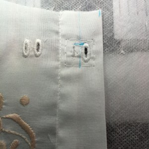 Camisole eyelet trimmed (left) and completely stitched (right)