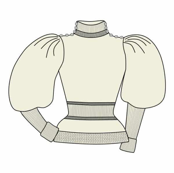 Leg-of-Mutton Sweater PDF pattern