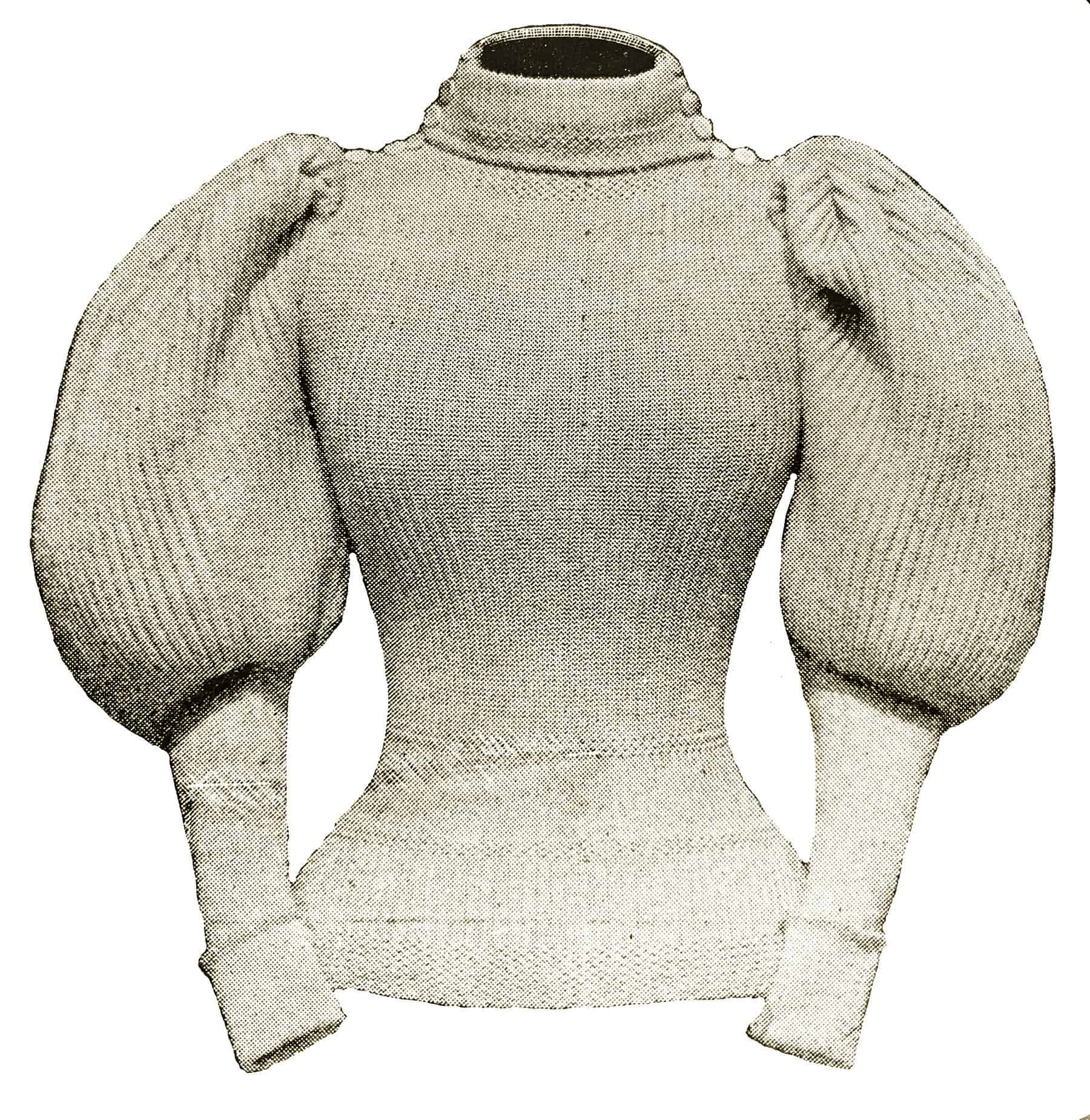 1897 leg-of-mutton sleeve sweater - original magazine image